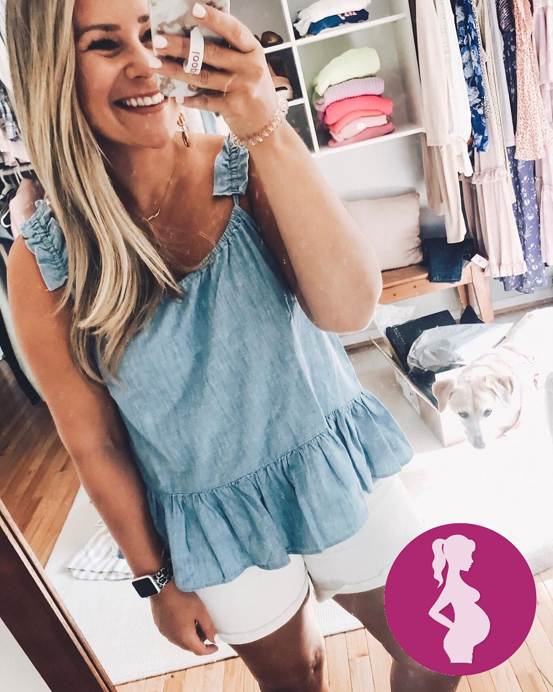 9 weeks preggo and the bloat is REAL .After talking to more than a handful of you, a lot shared th…